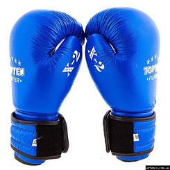 Перчатки боксерские TopTen x2 кожа 10, Синий