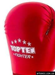 Перчатки боксерские TopTen x2 кожа 10, Красный