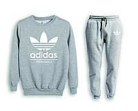 Мужской спортивный костюм, чоловічий костюм (свитшот+штаны) Adidas S484, Реплика