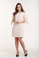 Платье прямое с рукавом на завязках