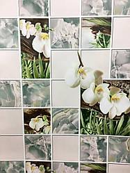 """Обои бумажные моющиеся  """"Орхидея""""  8124-04  для кухни, прихожей и др. помещений   0,53*10"""