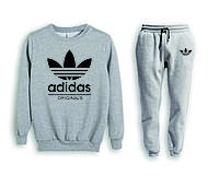 Мужской спортивный костюм, чоловічий костюм (свитшот+штаны) Adidas S485, Реплика