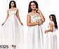 Вечернее длинное платье с коротким рукавом (черный) 828324, фото 2
