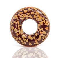 Надувной круг Intex 56262 Пончик в шоколаде 114 см (int56262)