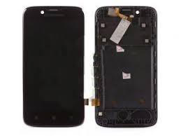 Дисплей с тачскрином Lenovo A328 черный в рамке