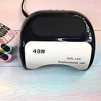 Лампа для маникюра Professional 48W Черная CCFL+LED, фото 1