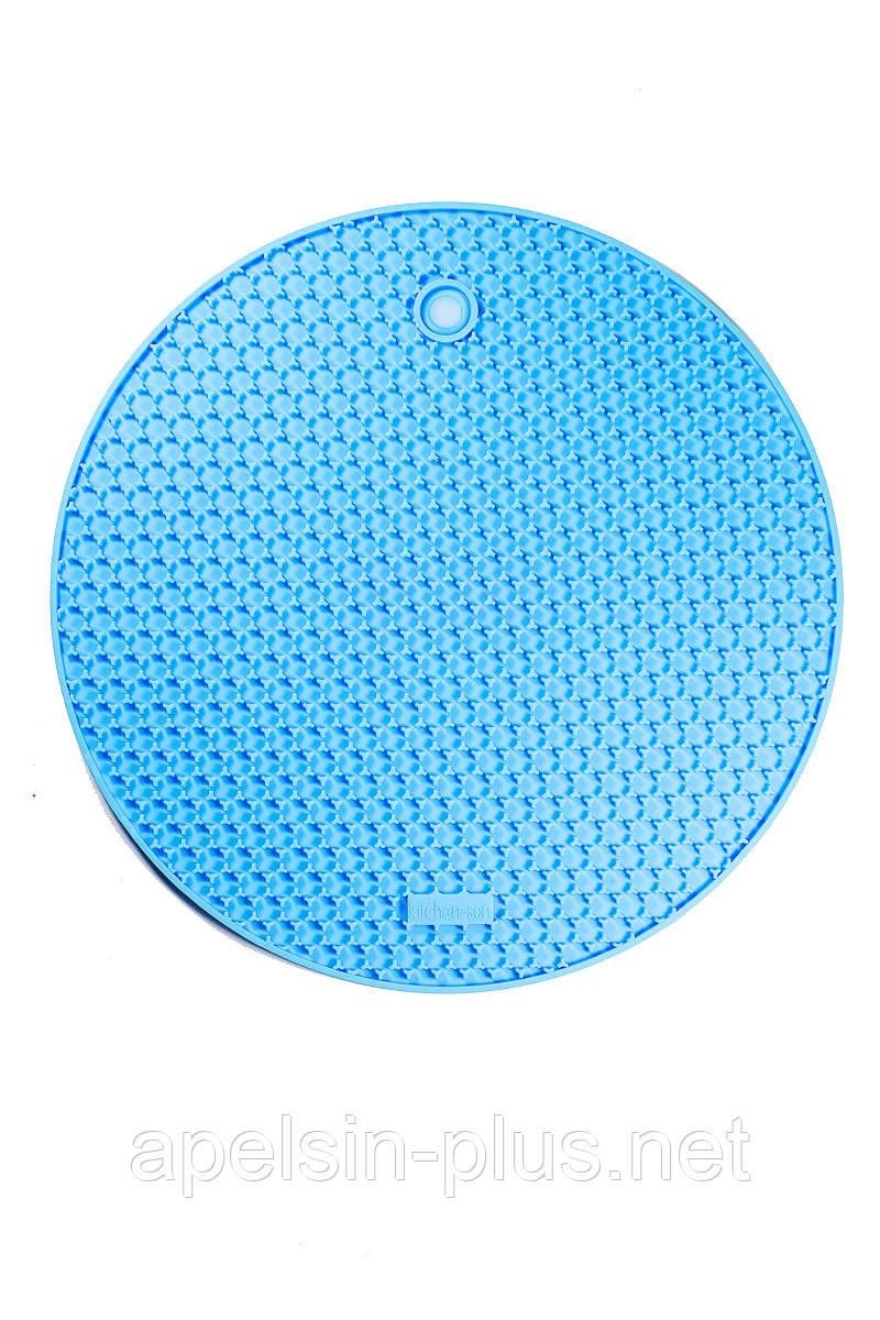 Силиконовая подставка-прихватка для посуды круглая