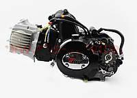"""Двигатель мопедный в сборе 125куб (Active) - """"механика"""" черный, фото 1"""