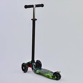 Детский самокат Best Scooter Maxi 779-1317 с светящимися колесами с настройкой по росту