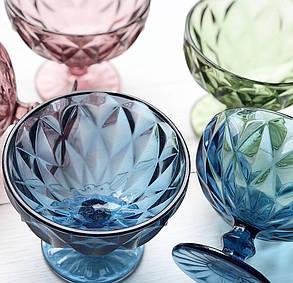 Креманка Изумруд розовое стекло, 250 мл, фото 2