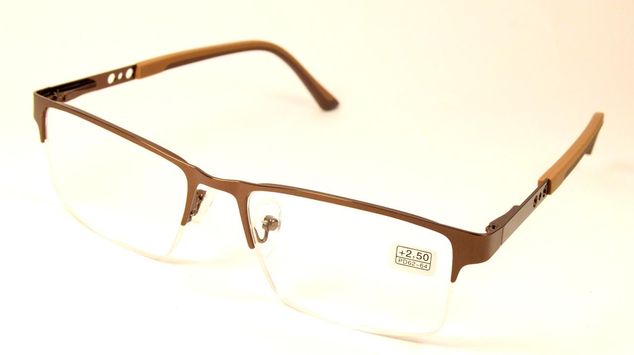 Очки для зрения полуоправные (МС 2247 бронза)