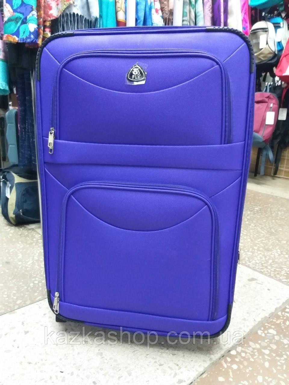 Тканевой чемодан Fly 6802 на 2 колеса, Польша, телескопическая ручка, металлический каркас