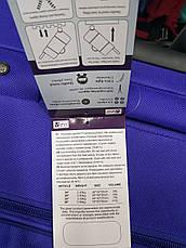 Тканевой чемодан Fly 6802 на 2 колеса, Польша, телескопическая ручка, металлический каркас, фото 3