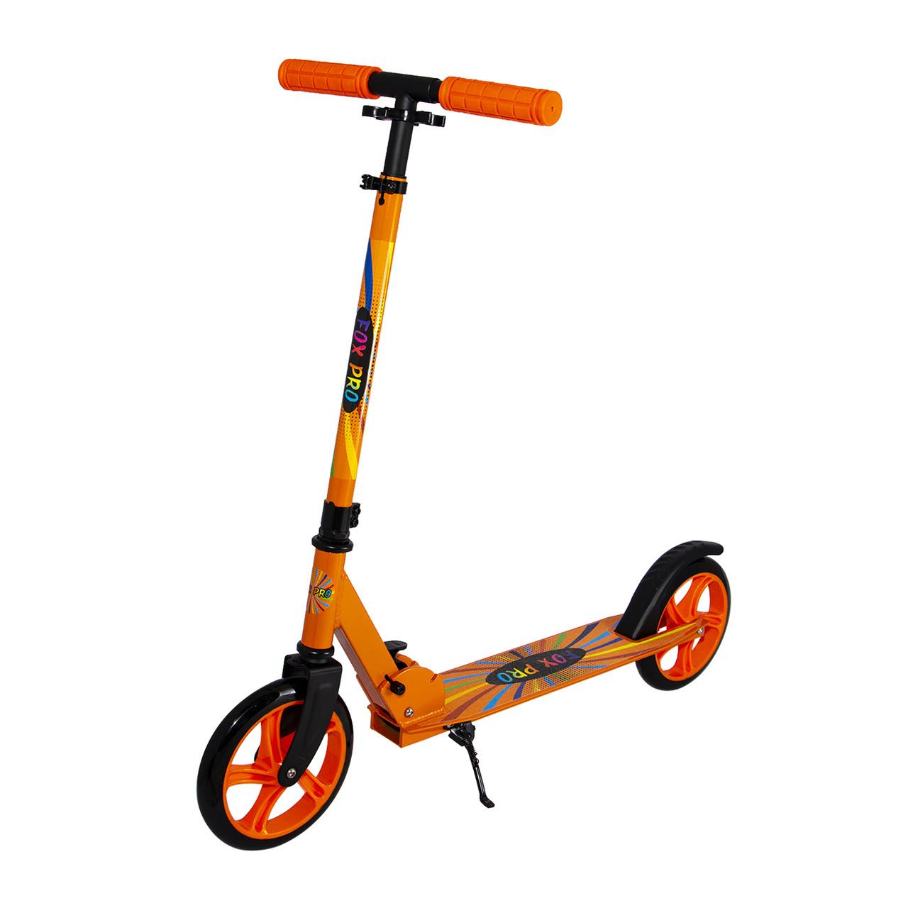 Самокат двухколесный Maraton Fox Pro с алюминиевой рамой (оранжевый)