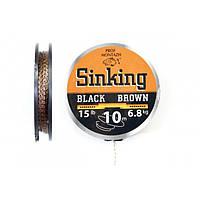 Поводочный материал Black Brown 25 LB 11,4 кг.(10м)