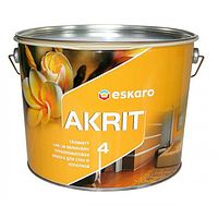 Eskaro Akrit 4 Белая 9,5л глубокоматовая краска для внутренних работ 6430011062218