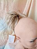 """Хвост короткий """"рожки"""" на крабе песочный блонд KARINA-12ТТ26, фото 2"""