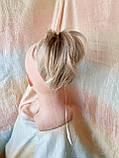 """Хвост короткий """"рожки"""" на крабе песочный блонд KARINA-12ТТ26, фото 5"""