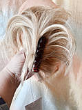 """Хвост короткий """"рожки"""" на крабе песочный блонд KARINA-12ТТ26, фото 6"""