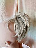 """Хвост короткий """"рожки"""" на крабе песочный блонд KARINA-12ТТ26, фото 7"""