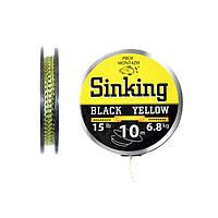 Поводочный материал Black Yellow 15 LB 6,8 кг.(10м)