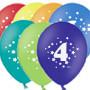 Гелиевые шары с цифрой 4 - 30 см. Гелиевые шары Киев.