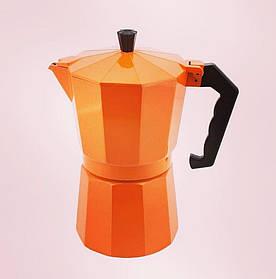Кофеварка гейзерная Мокко-оранж на 6 персон