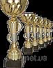 Кубок 8291A, золотисто-серебряный, 35 см