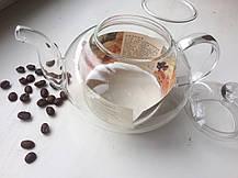 Стеклянный заварочный чайник Греческий стеклянные сито и крышка, 800 мл, фото 3