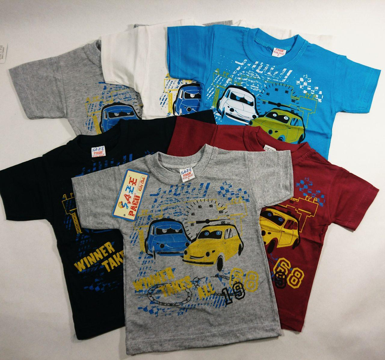 """Детская футболка летняя на мальчика  """" Машины""""  1-3"""
