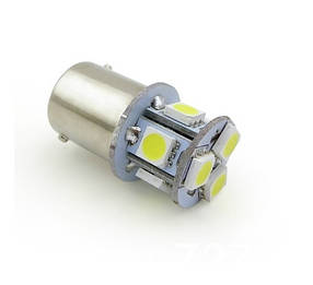Светодиодная лампа AllLight T25/5 8 диодов 5050 1157 BA15S 12V WHITE