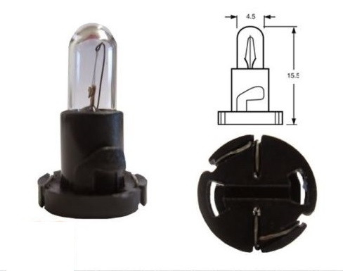 Автолампа ук. RING 509TYBK 14v 1.4w T5 (Black Base) Panel Bulb
