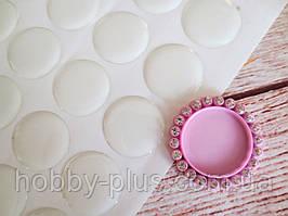Эпоксидная наклейка круглая для крышечки 25 мм, прозрачная