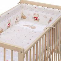 """Постельное белье в кроватку """"Мишки игрушки """" 6ед.(Защита на всю кроватку, 2 части), фото 1"""