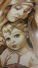 """""""Мадонна з дитям"""", повна вишивка бісером.   2"""