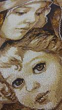 """""""Мадонна з дитям"""", повна вишивка бісером.   3"""