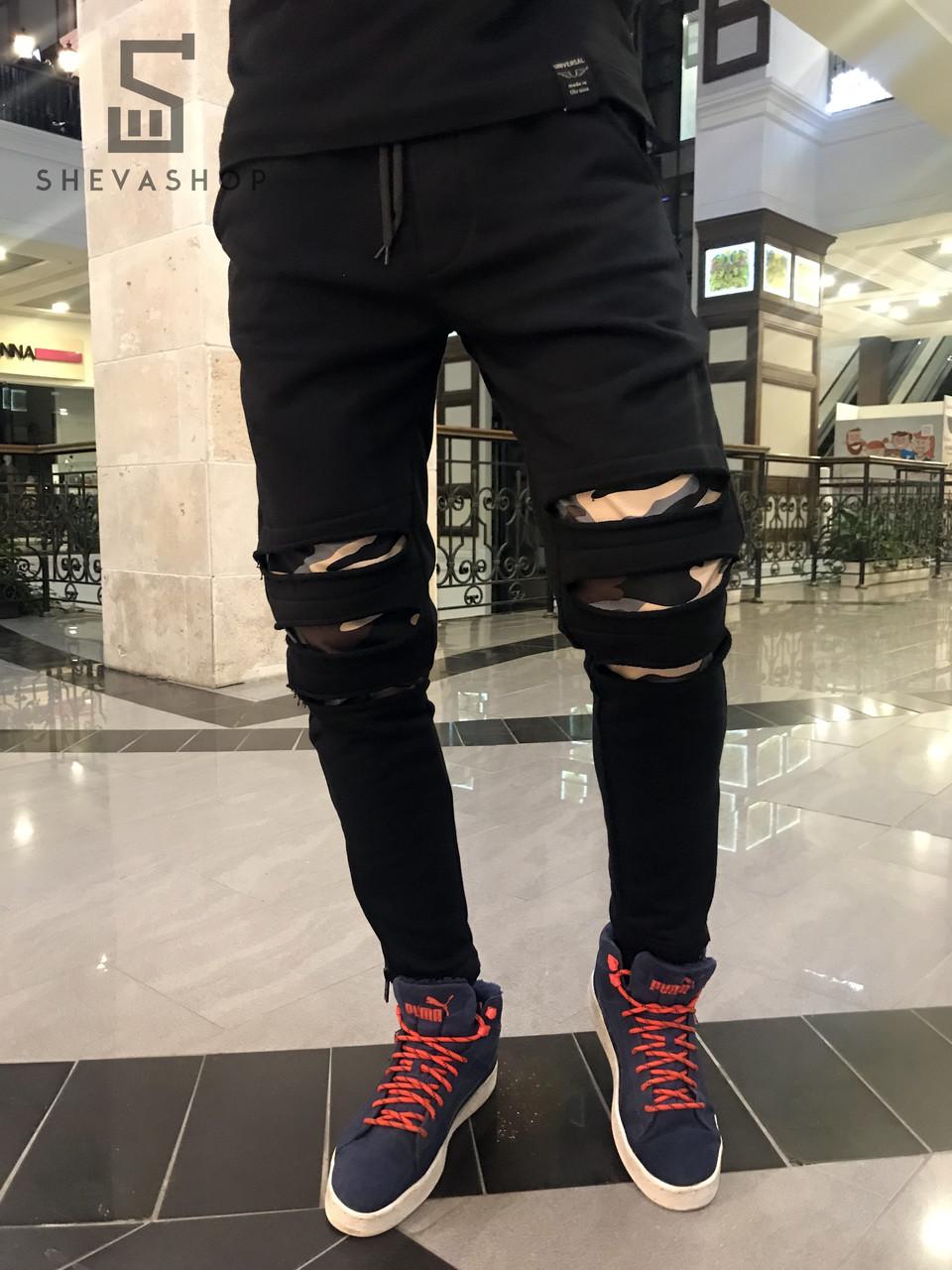 Спортивные штаны Universal черные