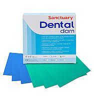 Дентал Дам Платки для коффердама, платки ізоляційні Дентал Дам (Sanctuary Dental Dam)(зеленые), 36шт./упак.