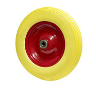 Колесо из пенополиуретана 360х82 шариковый подшипник (2х204) Маркировка 3.50-8