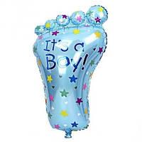 Шарик фигурный надувной, СТОПА голубая - 80 см