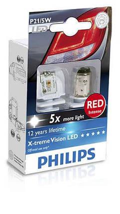 Автолампа диоды PHILIPS 12899RX2 P21/5W LED 12/24V X2, фото 2