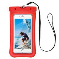 Чехол для смартфона водонепроницаемый Dutik красный, фото 1