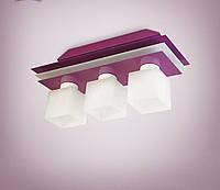 Люстра потолочная металлическая сиреневая