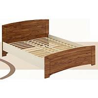 Кровать 1400 + ламели «Флоренция», дуб британский/дуб молочный, фото 1