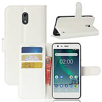 Чехол-книжка Litchie Wallet для Nokia 2 Белый