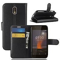 Чехол-книжка Litchie Wallet для Nokia 1 Черный