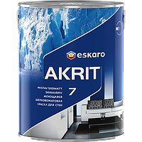 Eskaro Akrit 7 Белая 4,75 л шелково-матовая акрилатная краска для стен