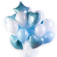 """Фонтан """"Нежный"""" Мальчик гелиевые шары, воздушные"""