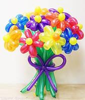 Букет из воздушных шариков, цветы из воздушных шариков. В букете 11 цветков.