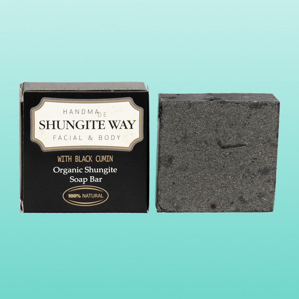 Лікувальна шунгитовое мило Shungite Way з чорним кмином, 72 р.